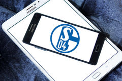 FC Schalke 04橄榄球俱乐部商标 库存图片
