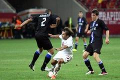 FC schnelles Bucharest - FC Heerenveen Stockfotos