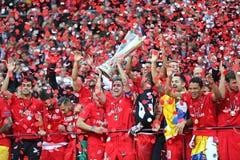 FC Sevilla club - the Winner of the UEFA Europa League 2015 Stock Photo
