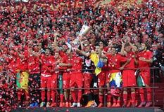 FC Sevilla - the Winner of UEFA Europa League 2015 Stock Image