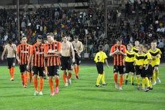 FC Shakhtar_19的球员 免版税图库摄影