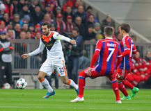 FC Shakhtar Donetsk för FC Bayern Muenchen V - liga för UEFA-mästare Royaltyfri Foto