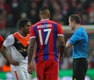 FC Shakhtar Donetsk för FC Bayern Muenchen V - liga för UEFA-mästare Royaltyfria Bilder