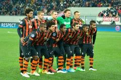 FC Shakhtar Donetsk football team Stock Photography