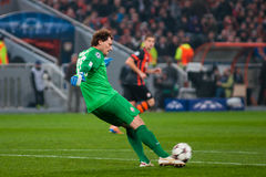 FC Shakhtar Donetsk goalkeeper Andriy Pyatov Royalty Free Stock Photo