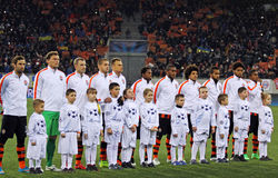 FC Shakhtar Donetsk players Stock Photo
