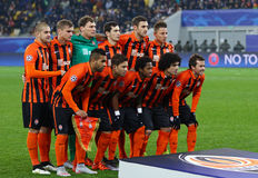 FC Shakhtar Donetsk players pose for a group photo Stock Images