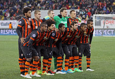 FC Shakhtar Donetsk-Team Stockfotos