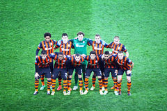 FC Shakhtar Donetsk team pose for a group photo Stock Photos