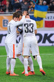 FC Shakhtar football players Stock Images