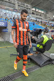 FC Shakhtar players are going to the field Royalty Free Stock Photos