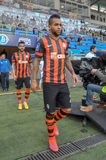 FC Shakhtar players are going to the field Stock Photography
