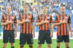 FC Shakhtar players Royalty Free Stock Photography