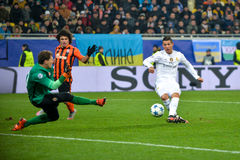 FC Shakhtar vs FC-Real Madrid Royaltyfria Bilder