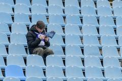 FC Stal εναντίον FC Αλεξάνδρεια Ουκρανικό πρωτάθλημα Στοκ εικόνες με δικαίωμα ελεύθερης χρήσης