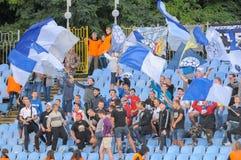 FC Stal versus FC Dinamo Stock Afbeeldingen