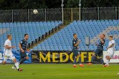 FC Stal versus FC Dinamo Royalty-vrije Stock Foto's
