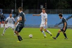 FC Stal vs FC Dinamo Fotografia Royalty Free