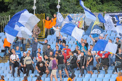 FC Stal vs FC Dinamo Obrazy Stock