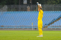 FC Stal vs FC Dinamo Zdjęcia Royalty Free