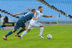 FC Stal vs FC Dinamo. Royalty Free Stock Images