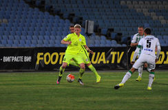 FC Stal vs FC Karpaty. Ukrainian championship. Royalty Free Stock Photography