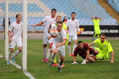 FC Stal vs Gornyk. Ukrainian Cup Stock Photo