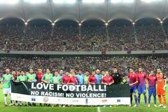 FC Steaua布加勒斯特- CFR科鲁 免版税库存图片
