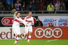FC Steaua Boekarest - FC Stuttgart Royalty-vrije Stock Foto