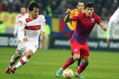 FC Steaua Boekarest - FC Stuttgart Stock Afbeelding