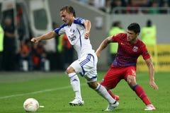 FC Steaua Bucarest - FC Copenhaga Imagen de archivo libre de regalías