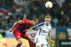 FC Steaua Bucarest - FC Copenhaga Foto de archivo