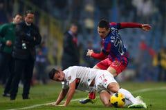 FC Steaua Bucarest - FC Dinamo Bucarest Foto de archivo