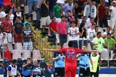 FC Steaua Bucarest - FC Ekranas Fotografie Stock