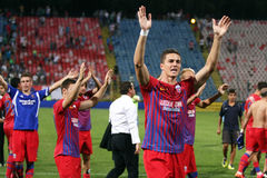 FC Steaua Bucarest - FC Ekranas Photographie stock