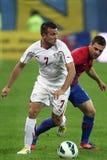 FC Steaua Bucarest - Rapid Bucarest de FC Imagenes de archivo