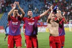FC Steaua Bucareste - FC Ekranas Foto de Stock Royalty Free