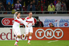 FC Steaua Bucharest - FC Stuttgart Royalty Free Stock Photo