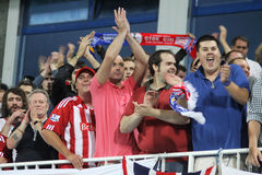 FC Stoke City supporters show their support Stock Photography