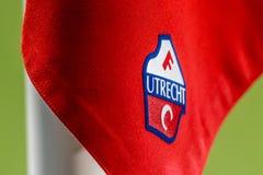 FC Utrechtlogo på hörnflagga Arkivbilder
