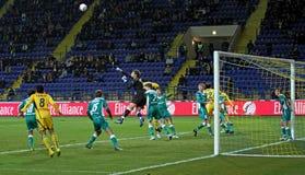 FC vs futbolowy FC dopasowanie Metalist Obolon Kyiv Obraz Royalty Free