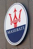 FCA Maserati factory, Modena, logo. MODENA - ITALY - JANUARY 2019 - FCA Maserati factory, Modena stock photography