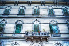 Fcaade of an elegant building in Florence Stock Photos