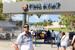 FCB Sport mall - Barcelona, Spain Stock Photography