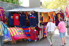 FCB Sport mall - Barcelona, Spain Royalty Free Stock Images