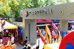 FCB Sport mall - Barcelona, Spain. Tourists enjoy at Sport mall -  Barcelona , Spain Royalty Free Stock Images