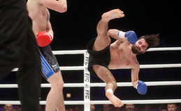 FCC Final Fight Championship. Fight show FFC 27 Final Fight Championship in Arena Zagreb, December 17. 2016. FFC fight between Ivan Bilic from Croatia and Giorgi Royalty Free Stock Photography