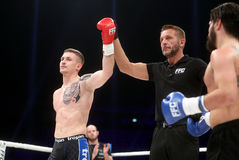 FCC Final Fight Championship. Fight show FFC 27 Final Fight Championship in Arena Zagreb, December 17. 2016. FFC fight between Ivan Bilic L from Croatia and Stock Image