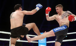 FCC Final Fight Championship. Fight show FFC 27 Final Fight Championship in Arena Zagreb, December 17. 2016. FFC fight between Ivan Bilic R from Croatia and Royalty Free Stock Photos