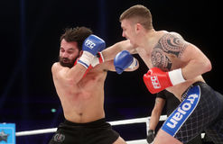 FCC Final Fight Championship. Fight show FFC 27 Final Fight Championship in Arena Zagreb, December 17. 2016. FFC fight between Ivan Bilic R from Croatia and Stock Photography
